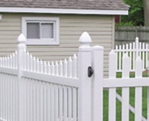 residential vinyl fencing by UltraGuard