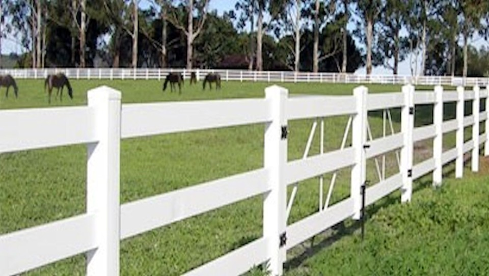 vinyl horse fence with gates for horses